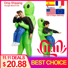 Inflatable Monster Costume Thanksgiving Stage Green Alien Christmas-Party Adult Festival