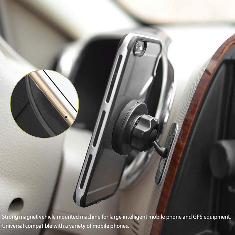 360°Rorating Stick On Dashboard Magnetic Car Mount Holder Cradle For iPhone GPS