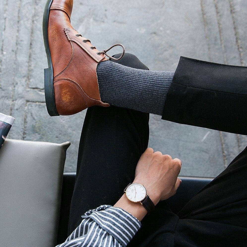 Tube Socks Men's Formal Dress Socks Business Men Streetwear Strip Stocks Fashion Gift For Men Suit Socks For Men