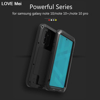 Love Mei Powerful Case For Samsung Galaxy Note 10 Shockproof Metal Aluminum Case Cover For Samsung Galaxy Note 10 Plus/Note 10+
