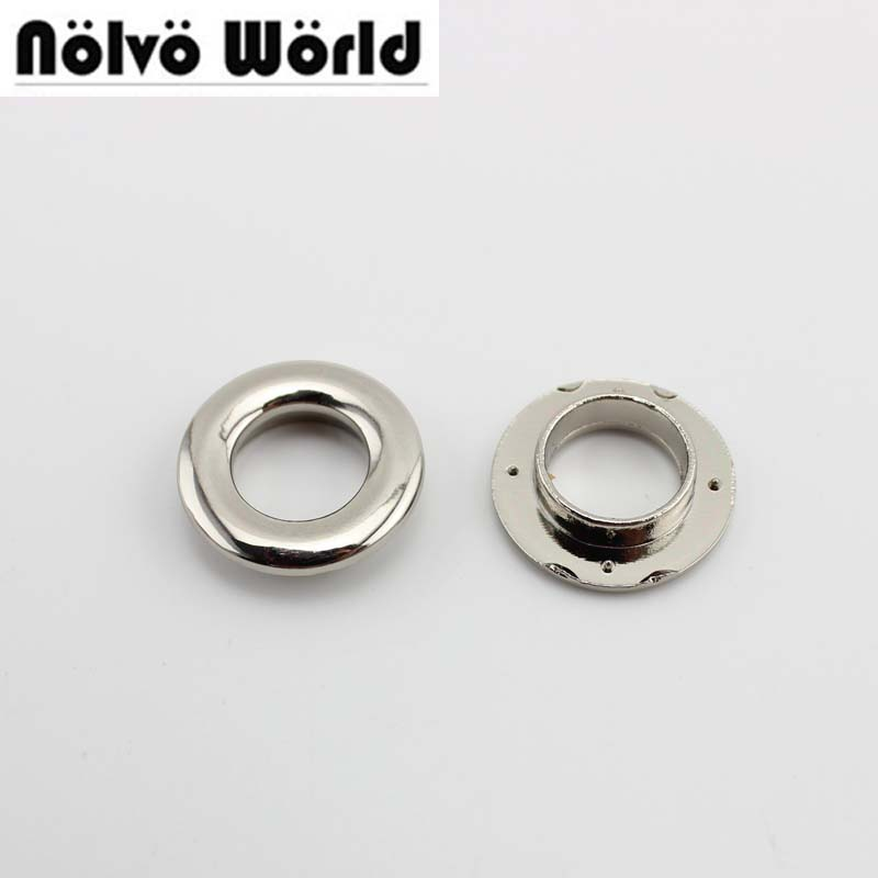 50pcs 5 Colors 21*11mm Push Grommet 4 Small Claws For Leather Bags Purse DIY Hardware Accessories Round  Press Eyelets