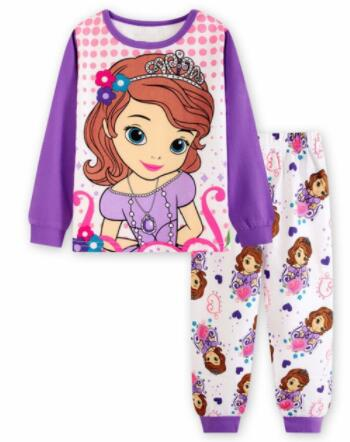 Kids Boy Girl Clothing Pajamas Set 100% Cotton 2019 Fall Winter Xmas Children Sleepwear 2 Pieces Tops +Pants Kid Clothes Pyjamas
