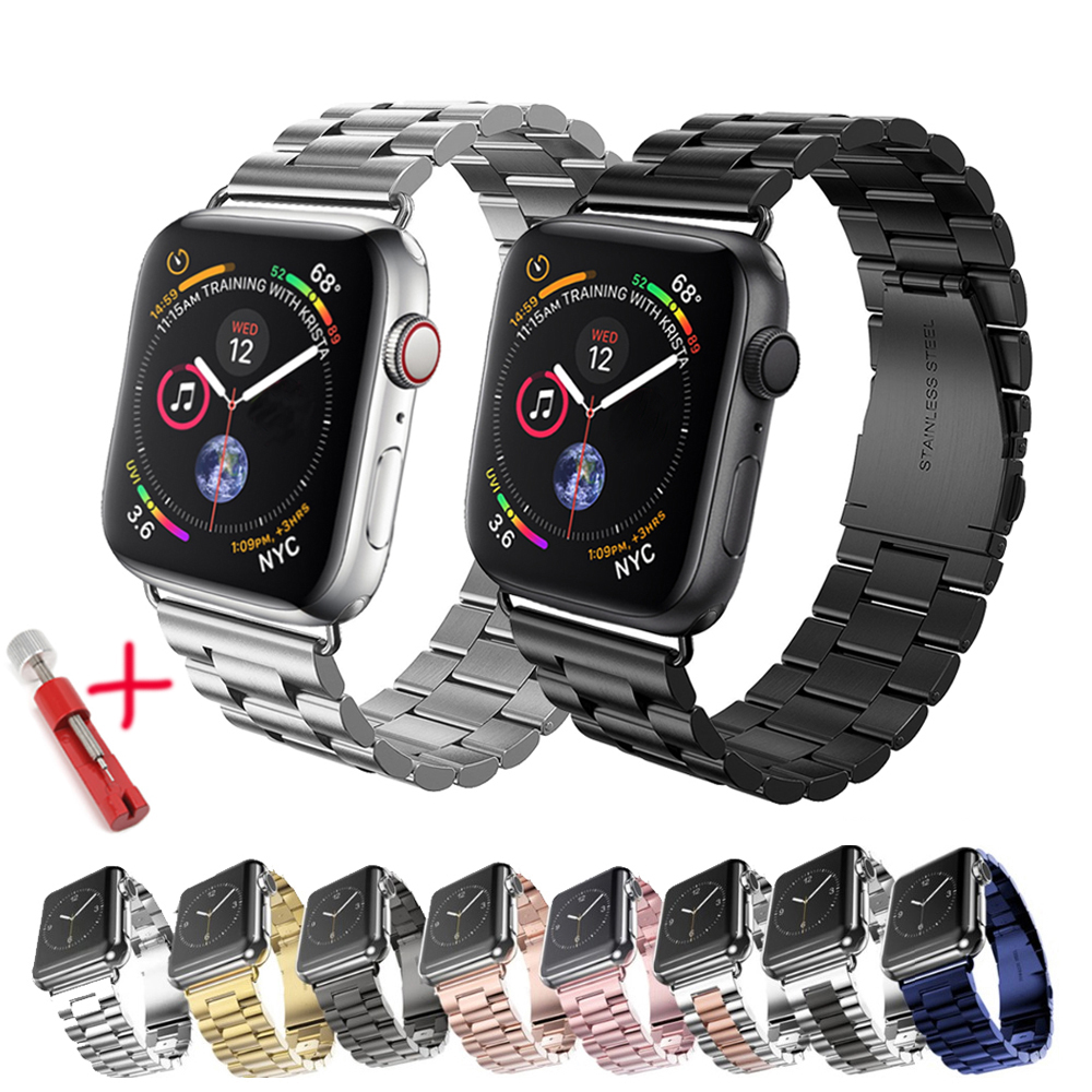 Strap For apple Watch band 44mm 40mm 42mm 38mm Stainless Steel metal Link Bracelet wristband iwatch series 6 5 4 3 40mm 44mm(China)