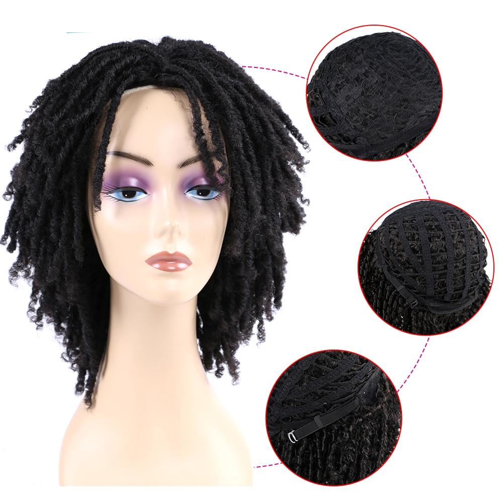 Dreadlock crochê torção perucas de cabelo curto