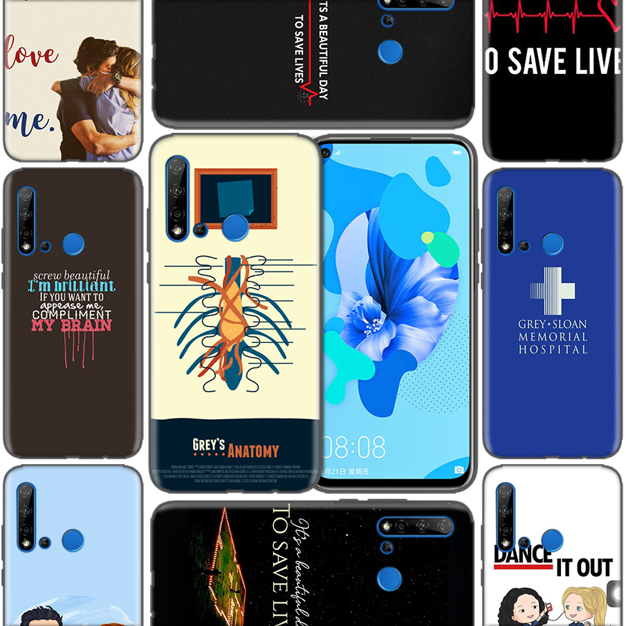 <font><b>Greys</b></font> <font><b>Anatomy</b></font> Soft Phone <font><b>Cases</b></font> For Huawei P9 P10 P20 P30 Mate 10 20 30 Lite Pro P Smart 2019 2017 Cover Bags Coque image