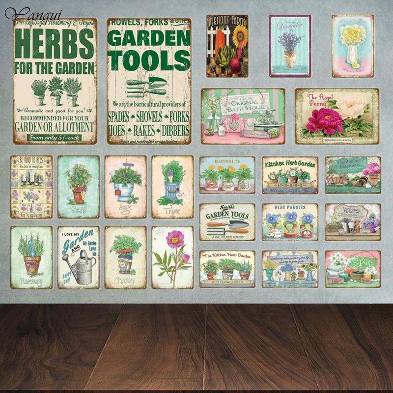 Cuisine Herb Garden Publicité Rétro Vintage métal signe
