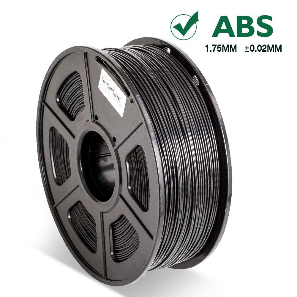 ABS Filament Black 1kg for 3D Printer SL 300 Printing Pen Material Roll Tolerance 0 02mm