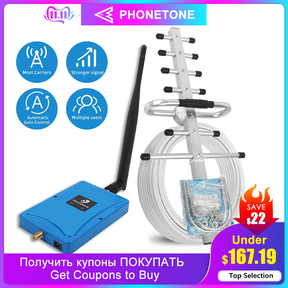 Mini Full Smart Dual Band 850/1700Mhz Mobile Phone Signal Booster 2G 3G 4G Cell Signgal Repeater Amplifier With Led/Alc/Agc Set