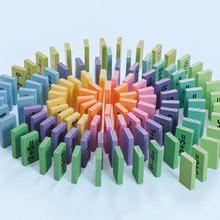 110 шт 10 цветов управление домино раннее образование цифровые строительные блоки учебные пособия по математике деревянные игрушки gxwj-dmn1