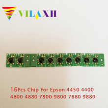 16Pcs Cartridge Chip For Epson 4450 4400 4800 4880 7800 9800 7880 9880 Printer Cartridge Chip цена в Москве и Питере
