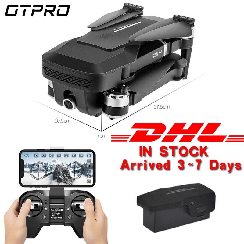 OTPRO Mini składany aparat 4K profesjonalny dron GPS helikopter rc bezszczotkowy silnik Quadcopter 1080P WIFI FVP zabawki prezent