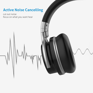 Image 2 - Mighty Rock E7C Aktive Noise Cancelling Kopfhörer Bluetooth Kopfhörer Wireless Headset 30 stunden Über ohr mit mikrofon