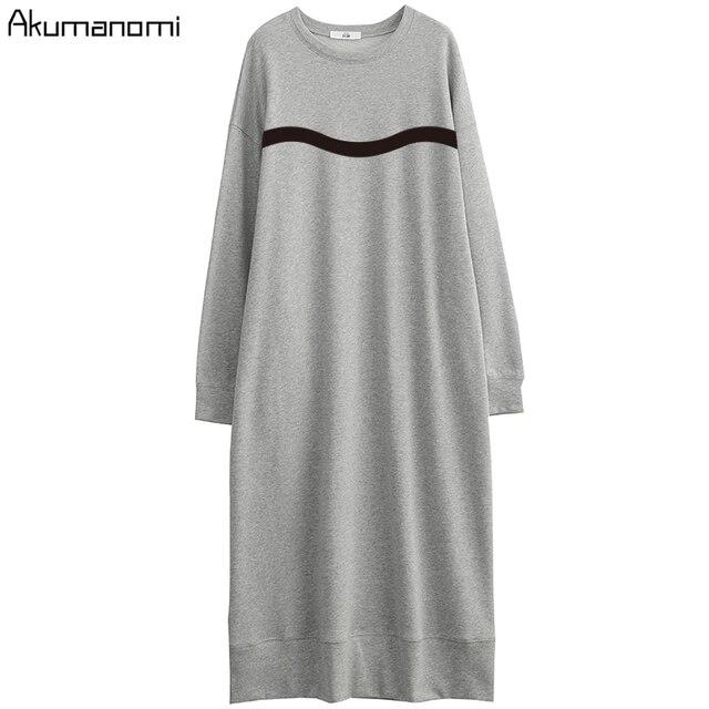 Printemps automne décontracté maxi robes pour femmes 2020 grande taille 7xl 6xl 5xl 4xl xxxl harajuku robe avec poches bureau robes femme