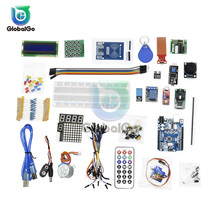 цена на Super Starter Kit for Arduino for UNO R3 Learning with CD Tutorial ATMEGA328P-AU USB Development Board Step Motor Servo 1602LCD