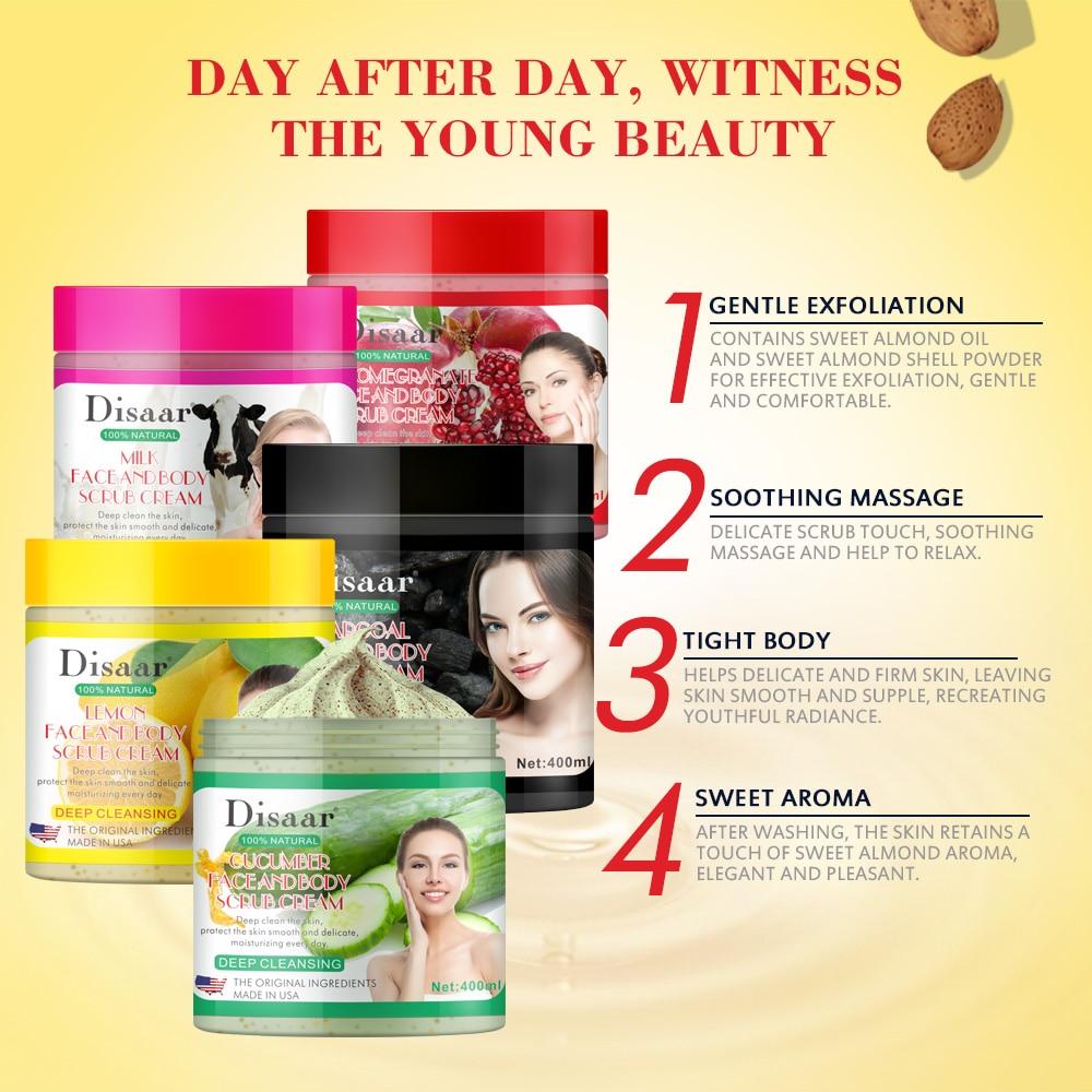 400g Facial And Body Exfoliator Face Scrub Natural Organic Peeling Exfoliating Moisturizer Body Exfoliante Beauty Cream 1