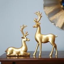 Гостиная винный шкаф украшение lucky elk дом европейский стиль