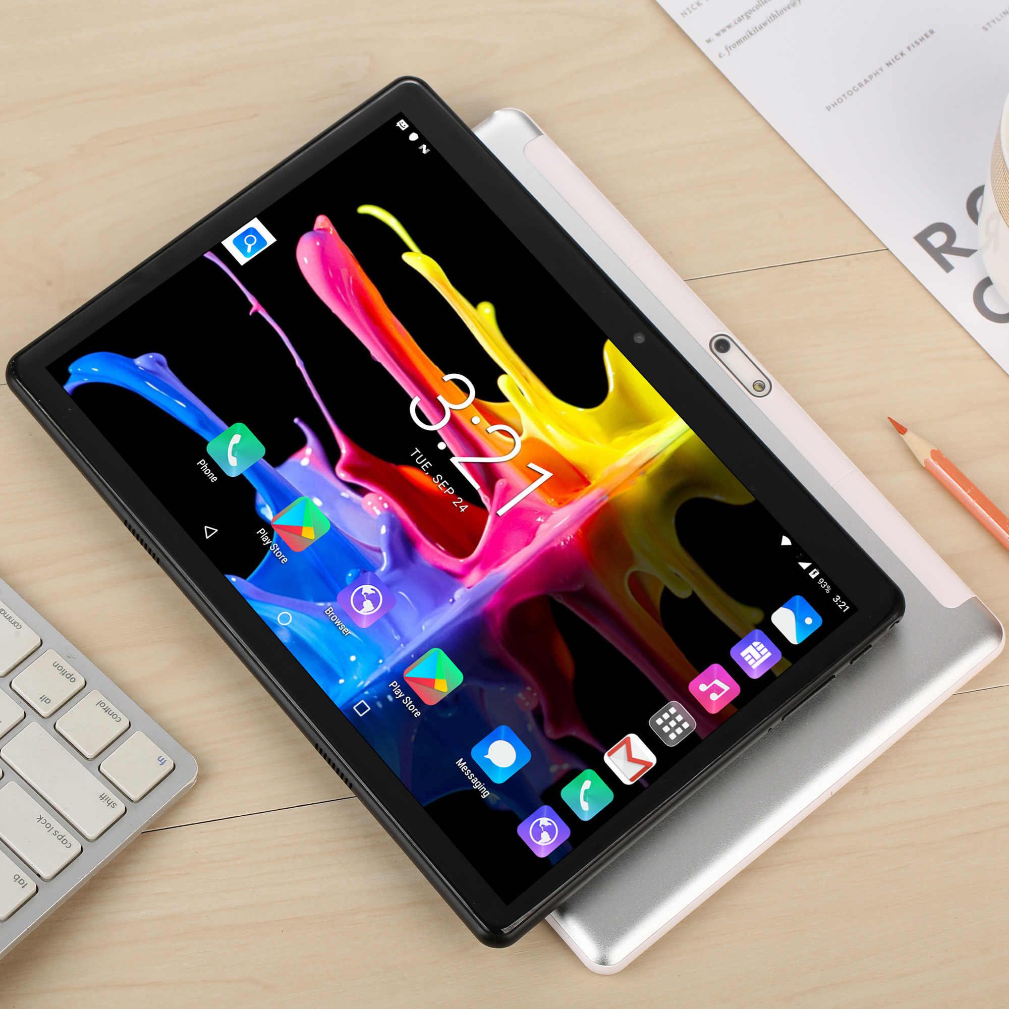 2020 yeni Tablet Pc 10.1 inç Android 7.0 Google 3G telefon görüşmesi Tablet WiFi Bluetooth GPS 2.5D temperli cam 10 inç Tablet