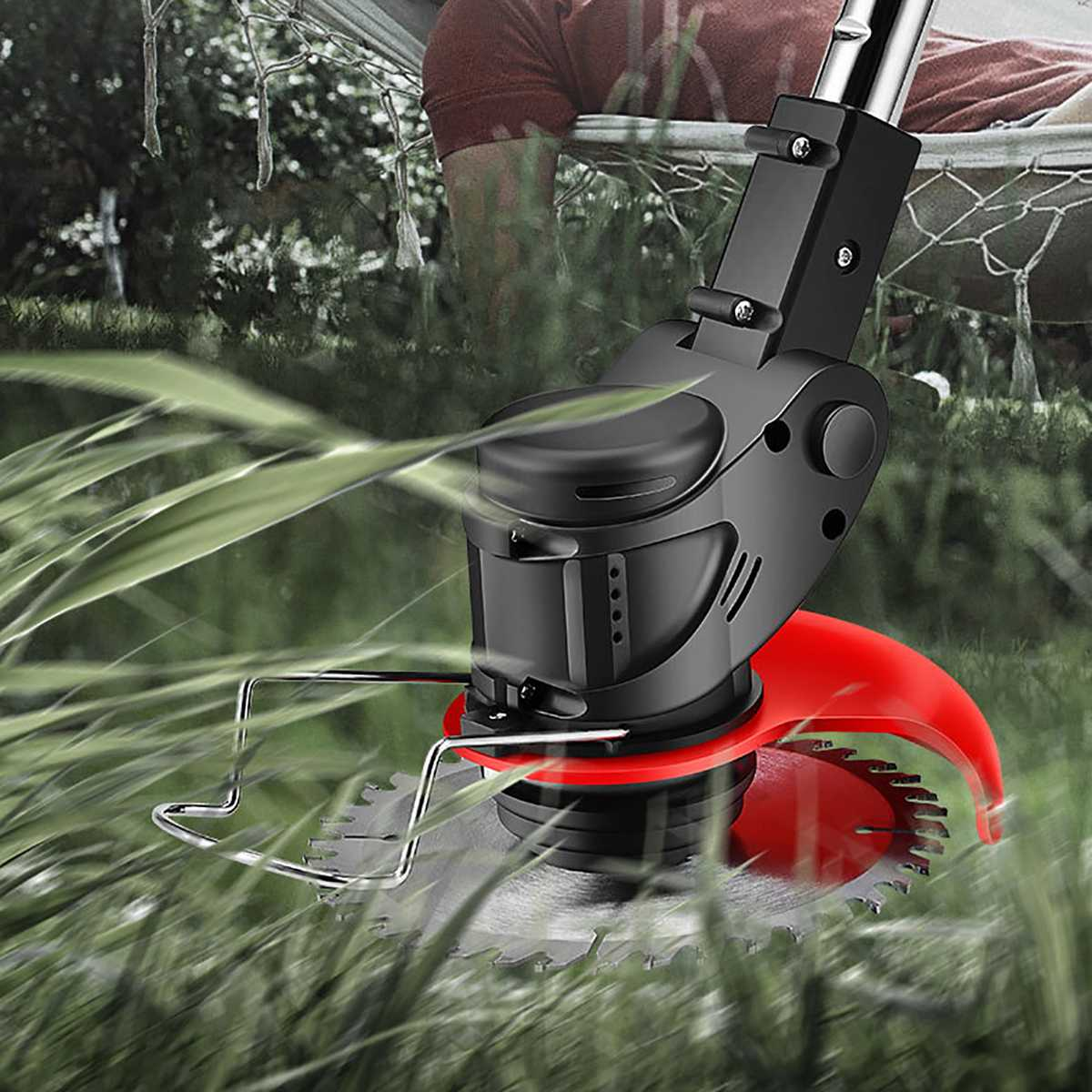 Tools : Portable Electric Grass Trimmer Handheld Lawn Mower Agricultural Household Cordless Weeder Garden Pruning Tool Brush Cutter