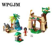 Compatible Legoinglys Friends Princess Moanas Ocean Voyage Building Blocks Kits Moana Vaiana Island Figures Bricks Model Toys