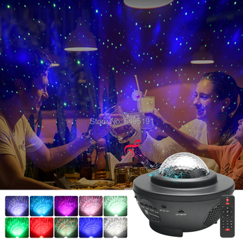 USB led starry sky projector star night light ocean wave music player laser projector with Bluetooth usb night projector ocean wave projector music starry sky projector kids room decoration night lamp bluetooth sound activated