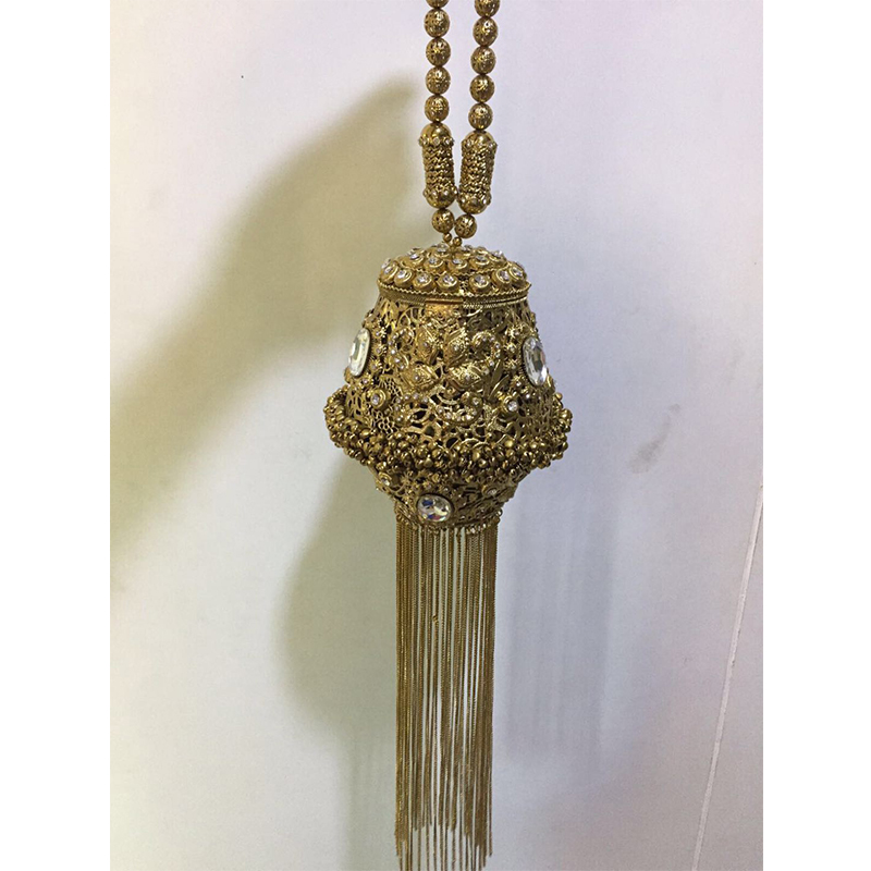 DOYUTIG inde Style femmes fait à la main strass perles embrayages dame Vintage armure longs glands sacs de soirée pour mariage F702