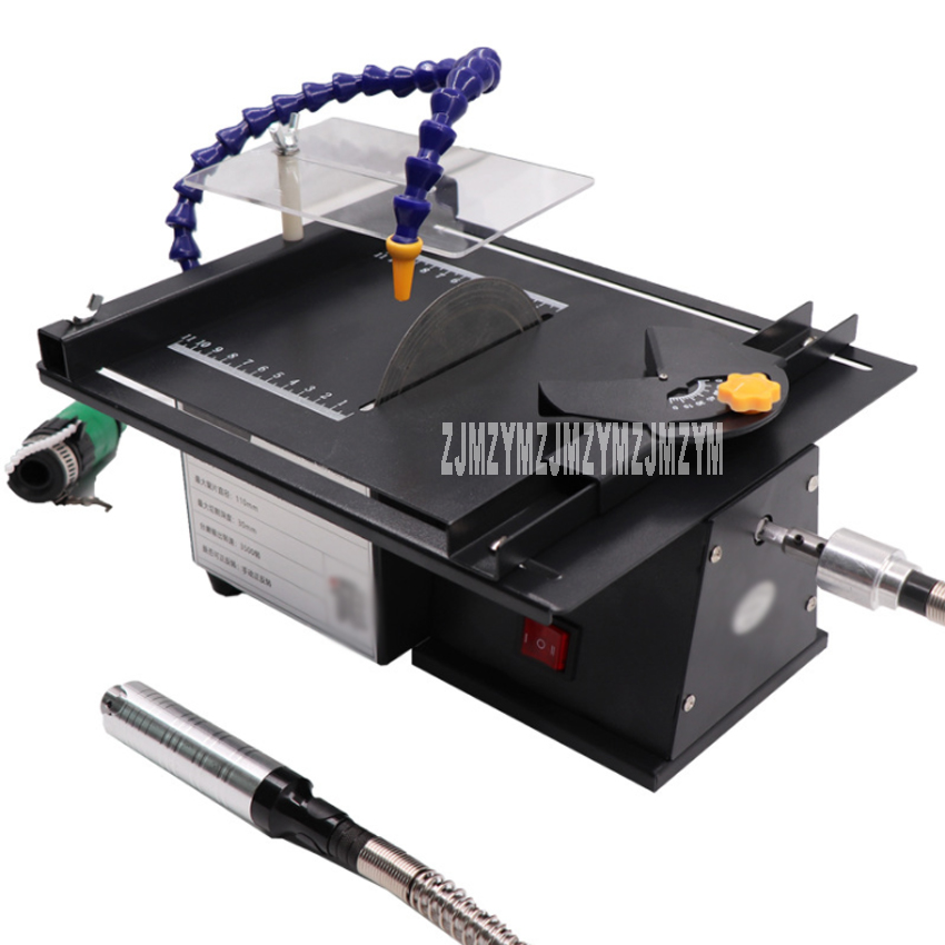 Mini Table Saw Jade Carving Machine Table Grinding And Cutting Machine Beeswax Woodworking Polishing Tool 110-240V 350W 1.5-10mm