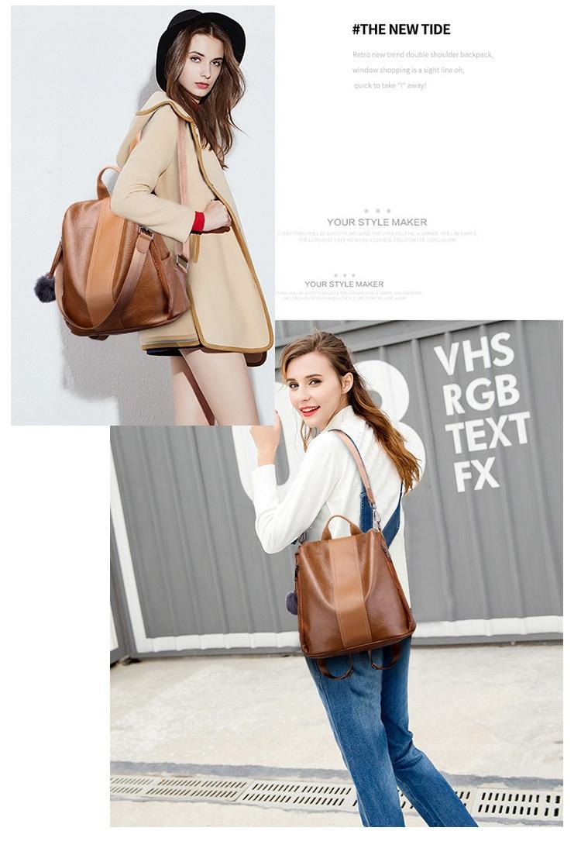 He13842fc5ee74d1e8877a42ec65c4d0dF 2019 Women Leather Anti-theft Backpacks High Quality Vintage Female Shoulder Bag Sac A Dos School Bags for Girls Bagpack Ladies