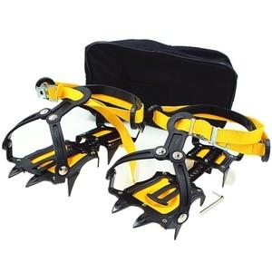 Image 2 - 10 歯屋外クライミング滑り止めアイゼン調節可能な冬の散歩アイス登山スノーシューマンガン鋼スリップ靴カバー