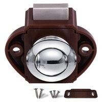Push Button Catch Cupboard Door Knob Latch Lock for RV Home Furniture _WK|Cabinet Locks| |  -