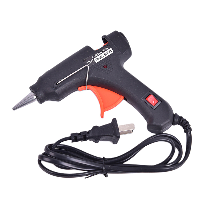 1pcs 12V 20W Electric Hot Melt Glue Gun DIY Art Craft Heat Repair Tool With Wire