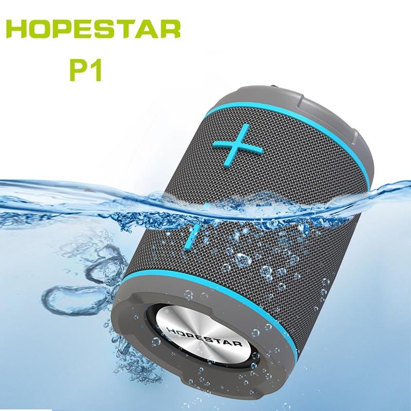 Portátil ao ar Livre sem Fio Ipx7 à Prova Hopestar Dwaterproof Água Alto-falante Bluetooth Nova Bicicleta Alto Falantes pc Rádio fm p1
