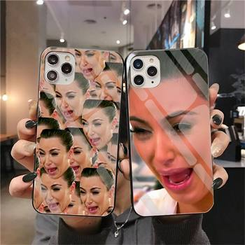 Kimoji Kim Kardashian kylie jenner custodia per telefono in vetro temperato per iPhone 12 pro max mini 11 Pro XR XS MAX 8X7 6S 6 Plus SE 2020