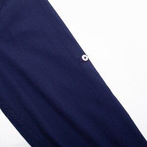 Image 5 - Fredd Marshall 2019 Mới Cuộn Lên Tay Áo Sơ Mi Cổ Điển Nam 100% Cotton Thun Đầm Áo Sơ Mi Nam Xã Hội chắc Chắn Áo Sơ Mi 207