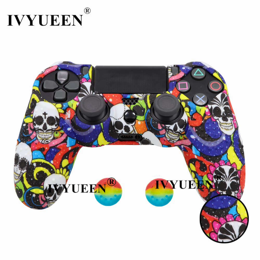 for PlayStation 4 ps4 Pro slim controller silicone case skin 14
