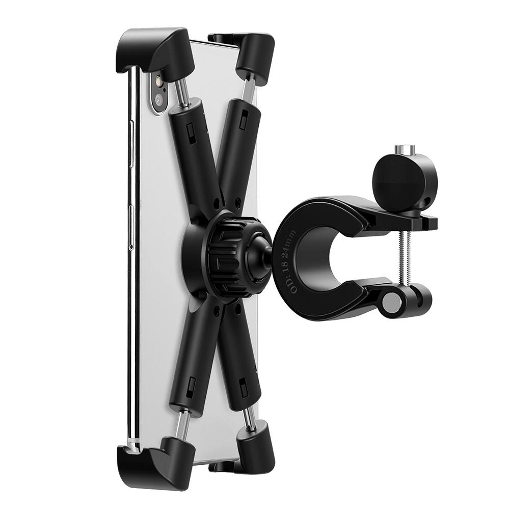Bicycle Mobile Phone Mount Holder Aluminum Universal For Cycling Riding Bike Rack Handlebar Anti drop Navigation Phones Bracket in Bicycle Rack from Sports Entertainment