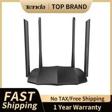 Tenda ac8/ac6 banda dupla inteligente 2.4g/5g ac1200 roteador wi-fi sem fio wi-fi repetidor 4 * 6dbi antenas de alto ganho app controle remoto