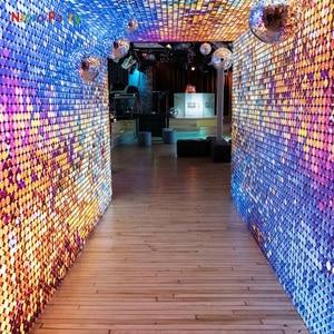 Nicro 30x30 см 3D блестки настенные панели наклейки кристалл пневматическое зеркало Свадьба День Рождения Вечеринка DIY Декор # Oth220