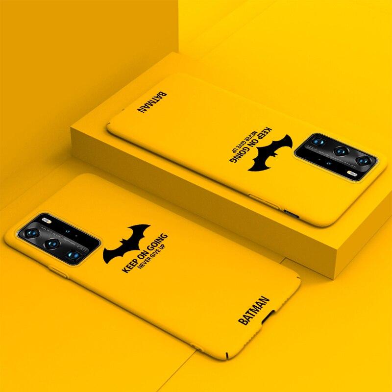 Ultra-dünne Bat Bunte Matte Harte PC Telefon Fall Für Huawei P40 P30 P20 lite Mate 30 20 10 pro Nette Stoßfest Matt Abdeckung