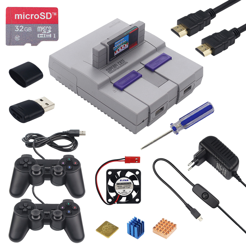 Raspberry Pi SUPERPIE CASEU Retroflag Case + Game Controller + 32GB SD Card + HDMI + 3A Switch Power Adapter For RPI 3B+ B Plus