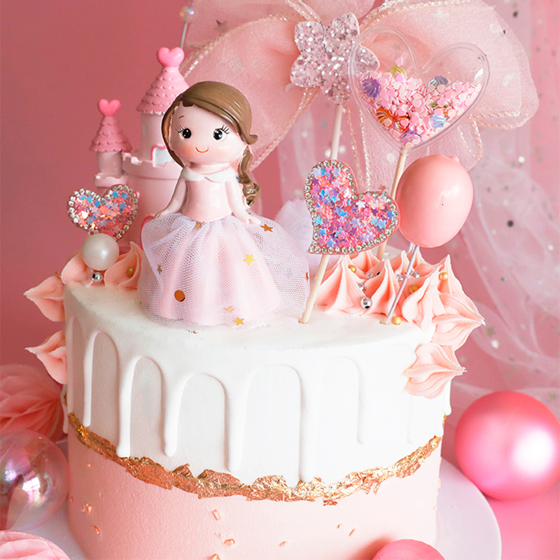 Swell Ins Princess Decoration Happy Birthday Cake Topper Cakes Funny Birthday Cards Online Overcheapnameinfo