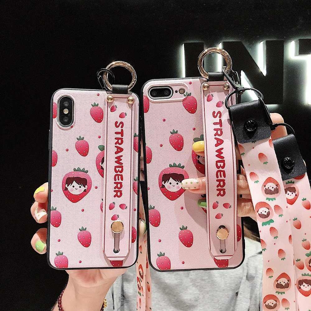 ストラップリストバンド i11 プロ電話ケース iphone 11 プロマックス XS × XR ケース Apple iPhone 11 プロマックスカバー