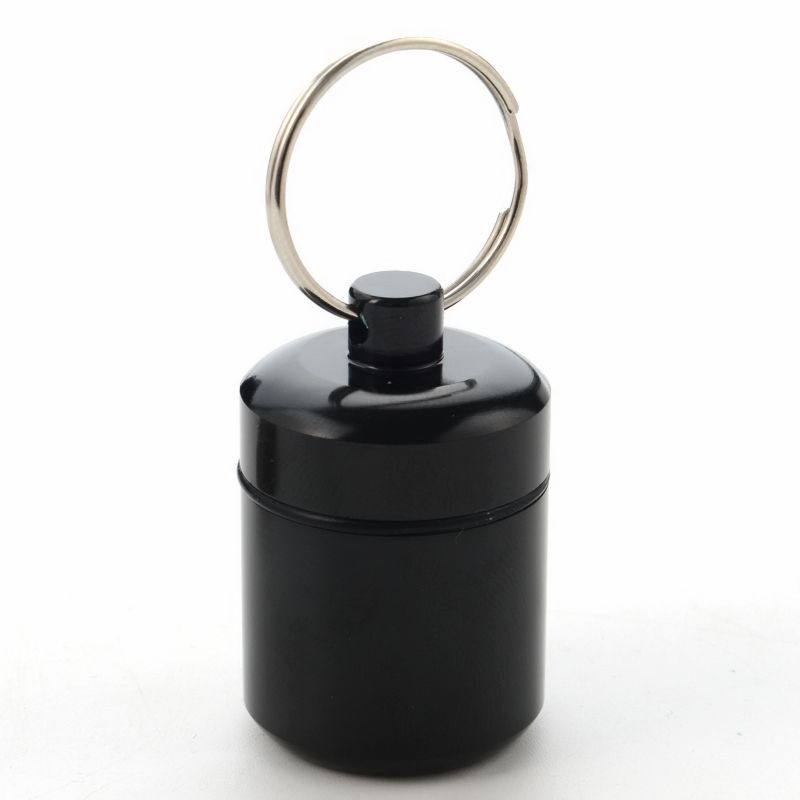 EDC Aluminum Alloy Waterproof Box Mini Portable Medicine Bottle Case Drug Holder Container Keychain To Store Coins Earplugs Pill