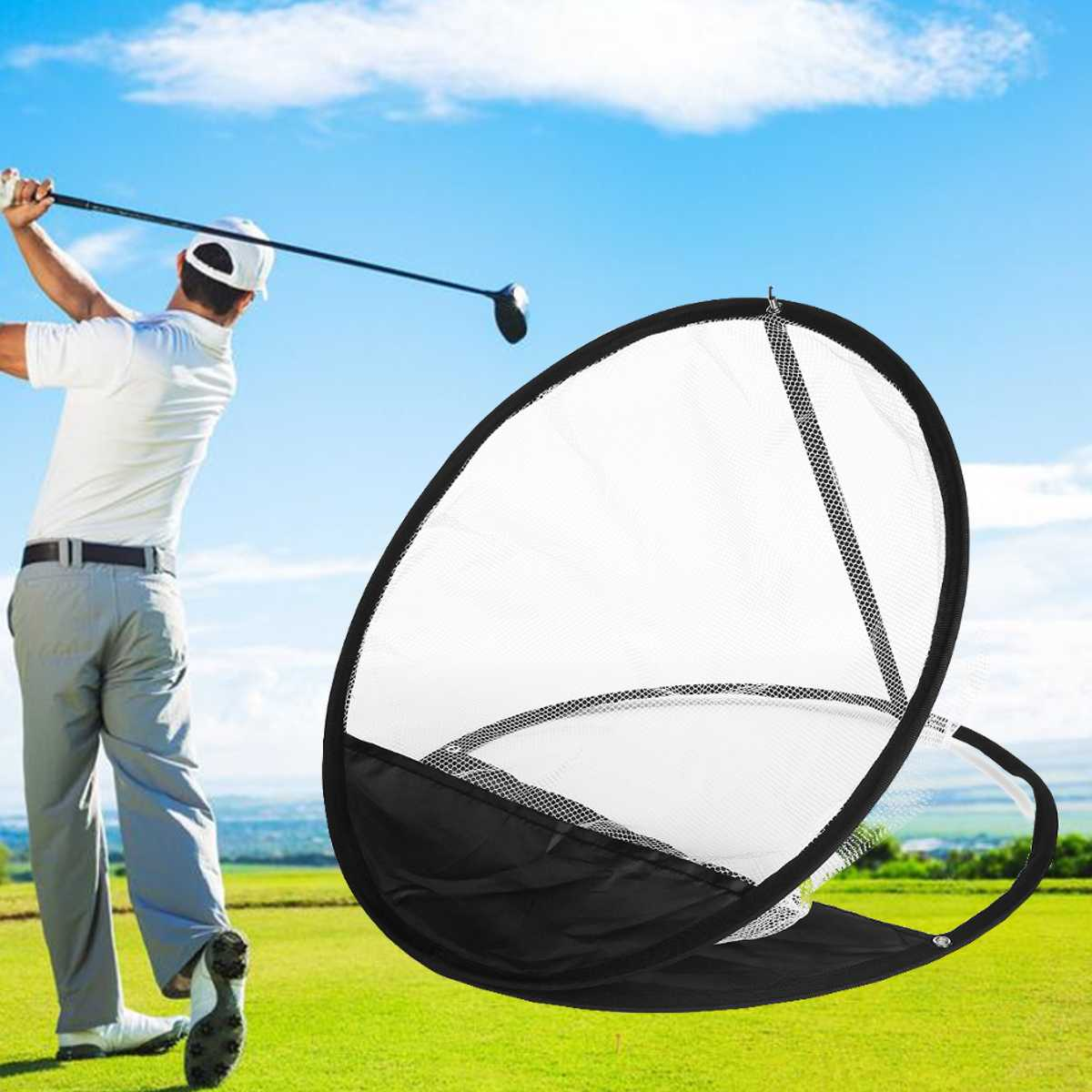 50cm Golf Cage Swing Trainer Pad Set Indoor Golf Ball Practice Net Golf Training New Without The Mat