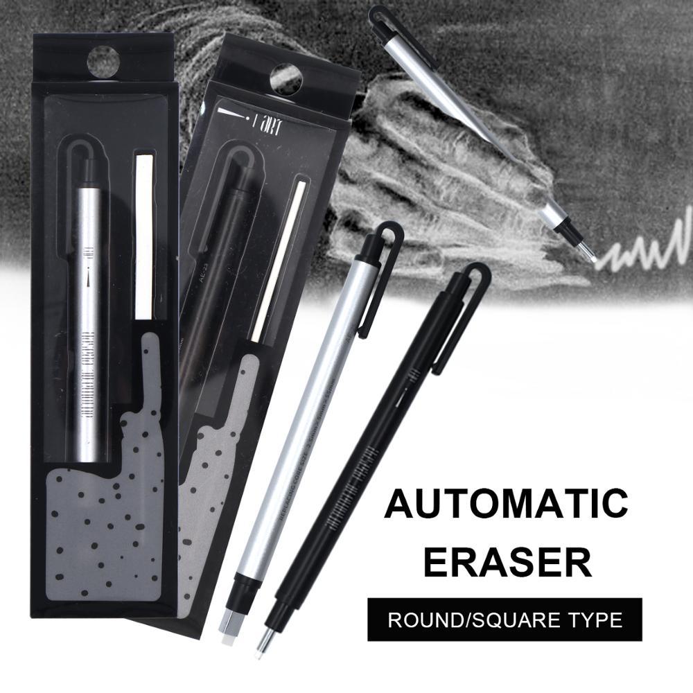 New Arrival Automatic Eraser Flat/Super Fine Rubber Pen Type Professional High Precision Pencil Eraser For Sketch Supplies