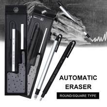 Nova chegada borracha automática plana/super fina borracha caneta tipo profissional alta precisão lápis borracha para esboço suprimentos