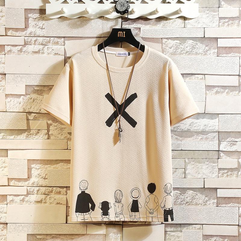 Casual Short Sleeve T Shirt Men'S 2021 Summer Tshirt Top Tees Classic Brand Fashion HIP HOP Clothes Plus OverSize M-5XL O NECK