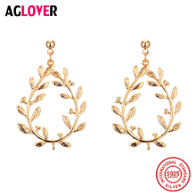 AGLOVER 2019 New 925 Sterling Silver Earrings Woman Life Tree Without Pierced Earrings Earring Fashion Wedding Jewelry Christmas