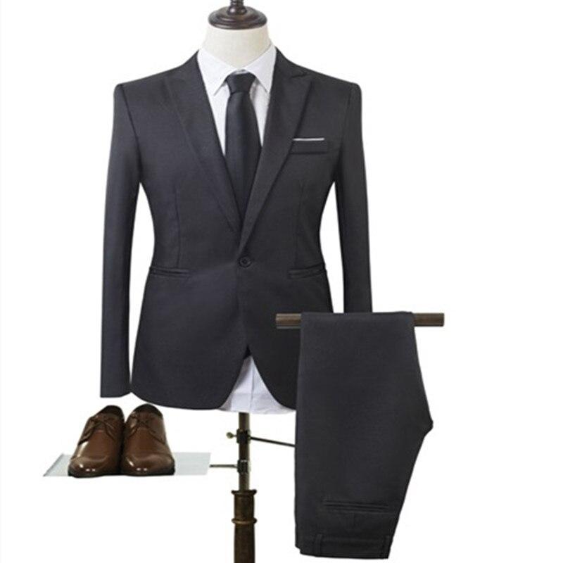 2018 Autumn Fashion Business Suit Korean-style Slim Fit MEN'S Suit Coat Best Man One-Button Suit Fashion