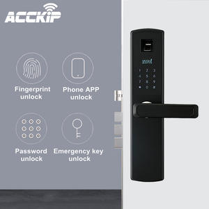ACCKIP Newest Smart Electronic Lock Fingerprint Door Lock Security Intelligent Lock Biometric