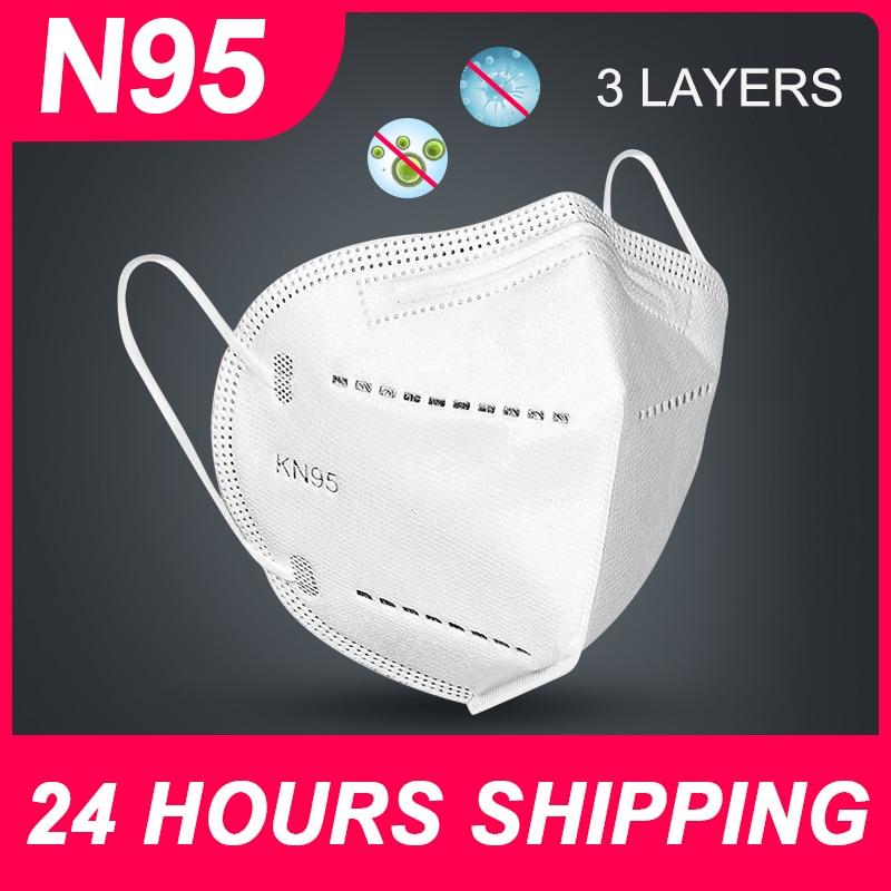 N95 Mask KN95 Face Mask FFP2 Disposable Mask Reusable Mouth Masks Non Woven PM2.5 Anti Dust Masks FFP2 KN95 Face Masks N95 FFP2